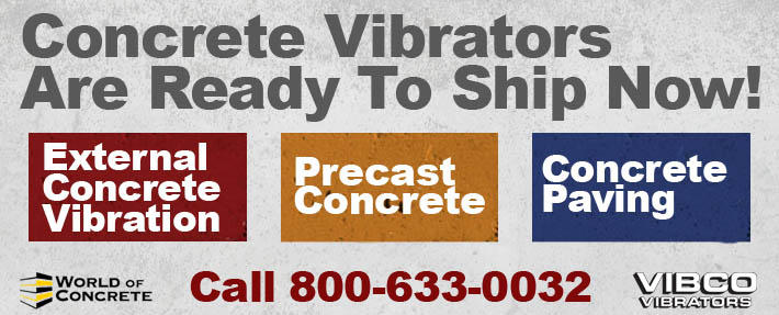 world of concrete vibco vibrators 2015